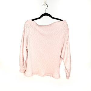 Gibson Lt Pink Marilyn Off the Shoulder Sweater